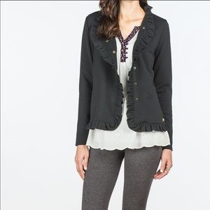 matilda jane black all is calm ruffle jacket